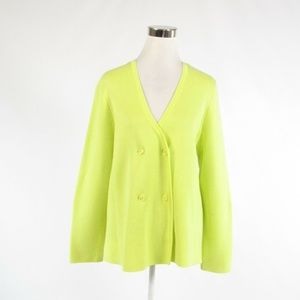 Doncaster bright green cotton sweater XL